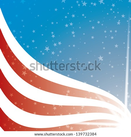 United States Flag background - stock vector
