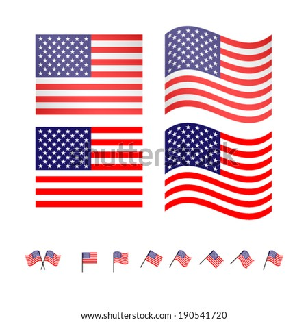United States Flags EPS10 - stock vector