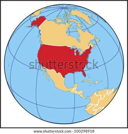 United States Globe Stock Images RoyaltyFree Images Vectors - Us map globe
