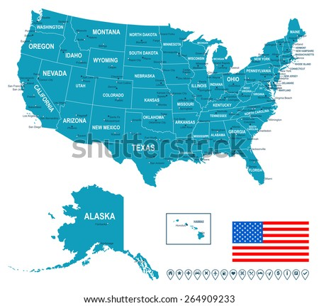 United States Map Stock Images RoyaltyFree Images Vectors - Pictures of united states map