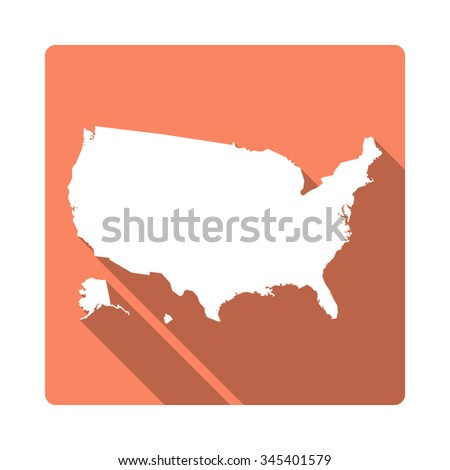 United States Map Modern Flat Icon Stock Vector - Us country map with states