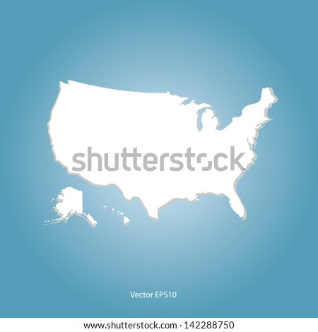 United States map vector - stock vector