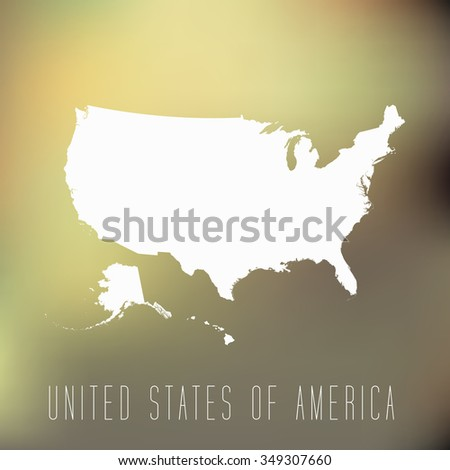 United States of America - stock vector