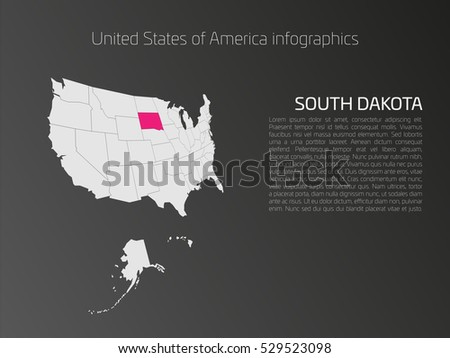 United States America Aka Usa Map Stock Vector 519871924