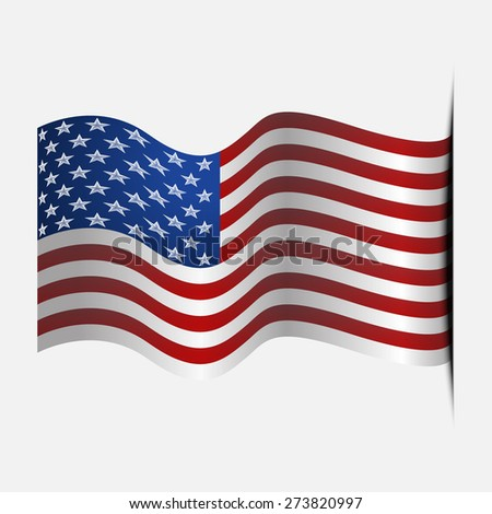United States of America. American national flag. Independence day July 4th 2016. America flag and Celebrating National Day. Happy and Free Labor Day, September 7th. USA flag Composition. USA Holiday