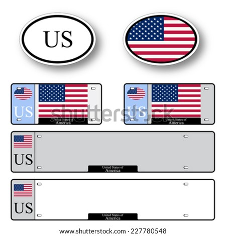united states of america auto set against white background, abstract vector art illustration, image contains transparency - stock vector