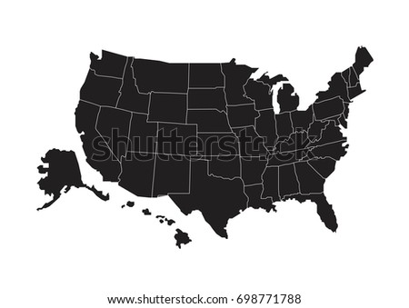 Political Map Usa United States America Stock Vector 679790650