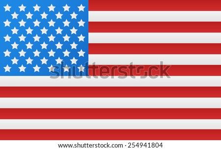 United States of America Flag - stock vector