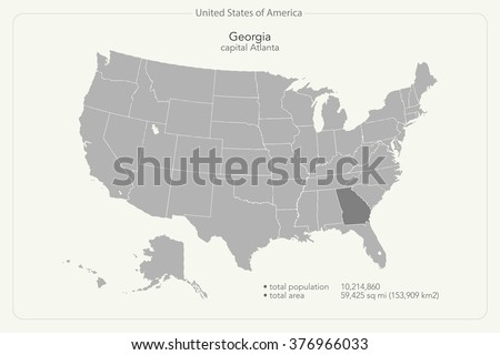 Atlanta Map Stock Images RoyaltyFree Images Vectors Shutterstock - Map of georgia united states