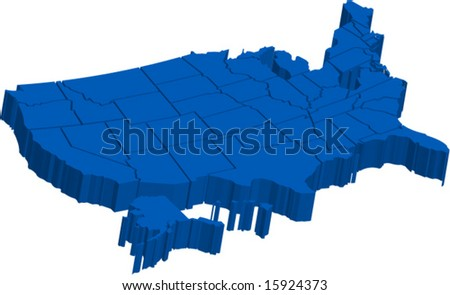 united states cool designs united states america map 3d vector stock vector 13883917