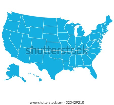 UNITED STATES OF AMERICA MAP ,USA MAP - stock vector