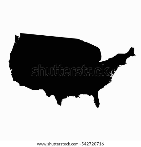 united states of america map usa map eps 10