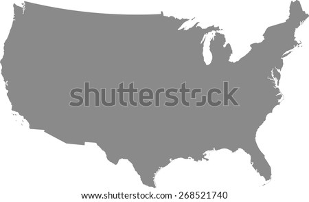 United States of America map, USA map in a grey background - stock vector