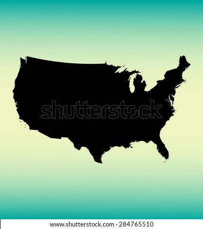 United States of America map, USA map , vector map , United States  - stock vector