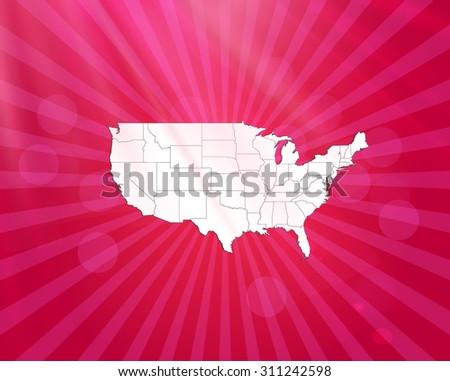 United States of America Map - Vector Illustration - stock vector