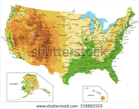 United States Stock Images RoyaltyFree Images Vectors - Us physical map game