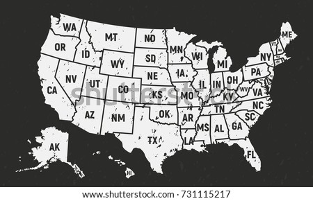 united states america retro poster map stock vector royalty free