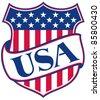 UNITED STATES OF AMERICA shield (USA - american patriotic symbol) - stock vector