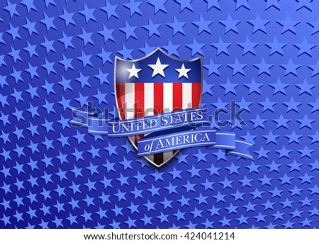 United States of America Stars Background - stock vector