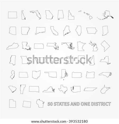 State Outlines Stock Images RoyaltyFree Images Vectors - Us map state outlines
