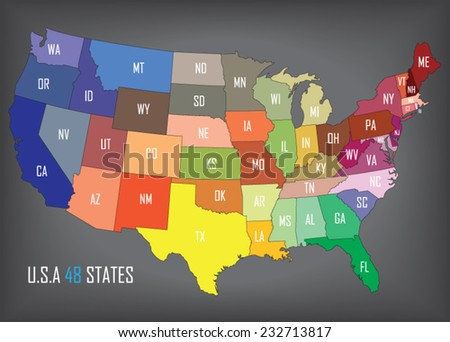 United States of America. States can be modified individually.