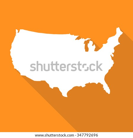 United States Americausa Map Flat Simple Stock Vector - Us map flat