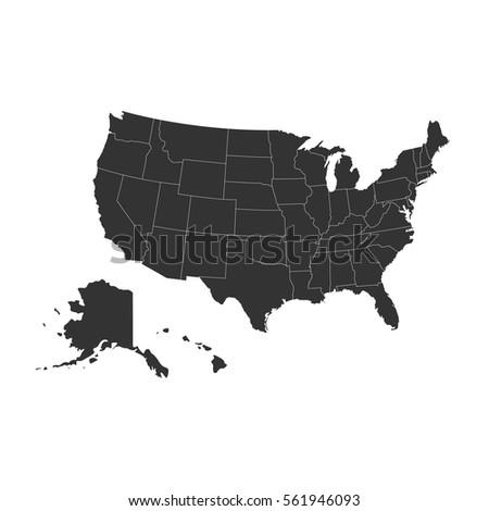 United States Map Stock Images RoyaltyFree Images Vectors - Black us map