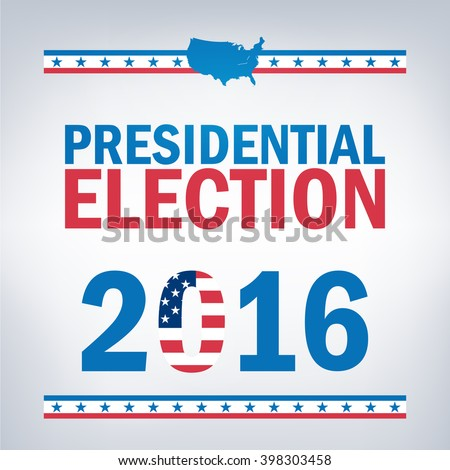 United States Presidential Election in 2016 - stock vector
