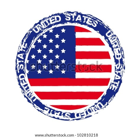 united states seal isolated over white background. vector - stock vector