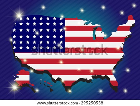 United states vector map - stock vector