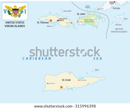Us Virgin Islands Stock Images RoyaltyFree Images Vectors - Virgin islands map us