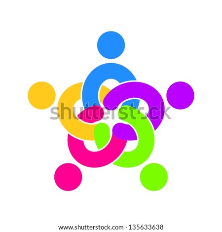 unity icon - stock vector