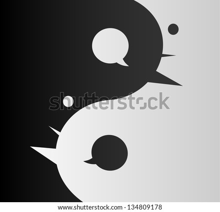 Unity of Opposites: Confronting Different Points of View to Complete Each Other - stock vector