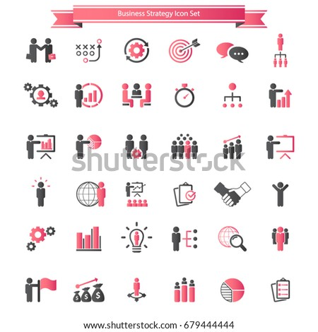 Motivations Outline Icons Vector Set Stock Vector ...