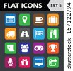 Universal Colorful Flat Icons. Set 5. Vector illustration - stock vector