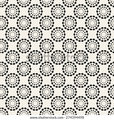 Universal different vector seamless pattern. Endless texture can be used for wallpaper, pattern fills, web page background, surface texture. Monochrome geometric ornament. - stock vector