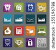Universal flat icons for web and mobile applications. Business. Set 1 - stock vector