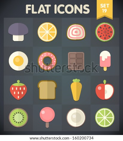 Universal Flat Icons for Web and Mobile Applications Set 19