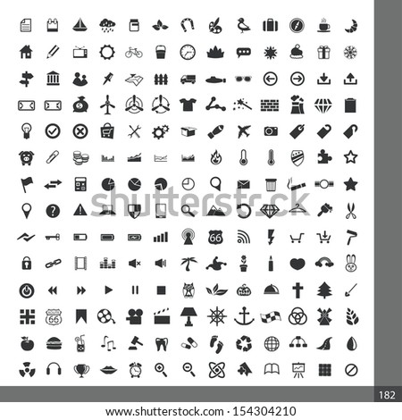 Universal icons for web and mobile applications - stock vector