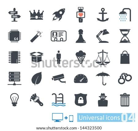 Universal icons set 04 - stock vector