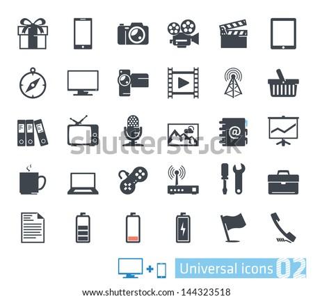 Universal icons set 02 - stock vector