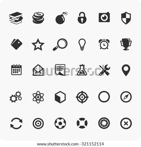Universal icons Set - stock vector