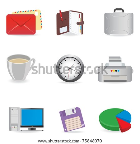 Universal icons. Vector set