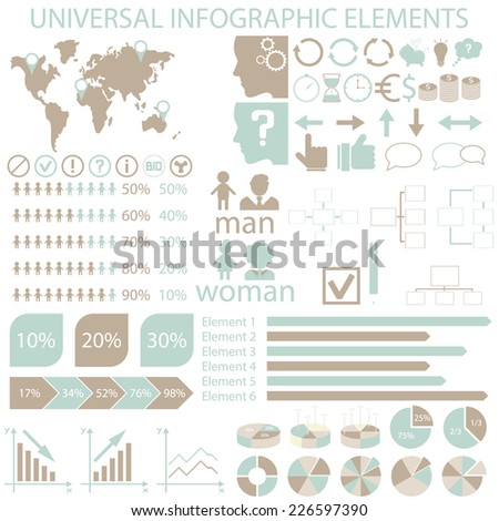 Universal infographic elements icon infographics presentations stock universal infographic elements icon for infographics presentations business cards and backgrounds colourmoves