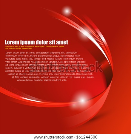 Universal red abstract vector background with 3D effect for a brochure, poster, flyer or cover