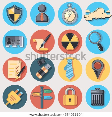 Universal set of icons - stock vector