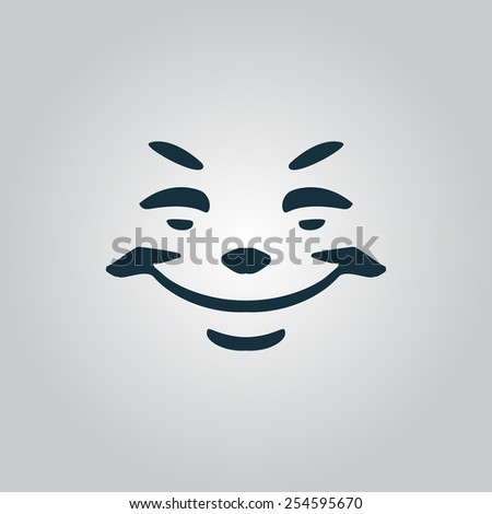 Universal smiling, freehand drawing. Flat web icon, sign or button isolated on grey background. Collection modern trend concept design style vector illustration symbol. EPS10 - stock vector
