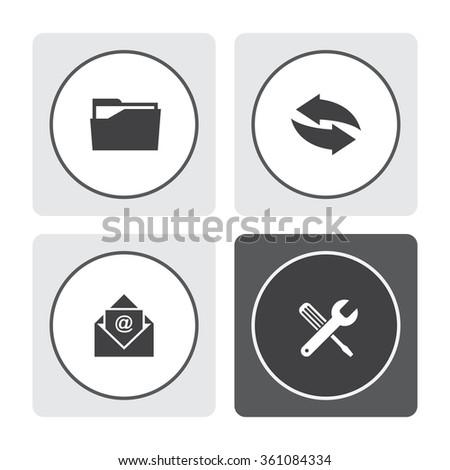 Universal vector icons - stock vector