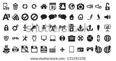 universal web icons set - stock vector