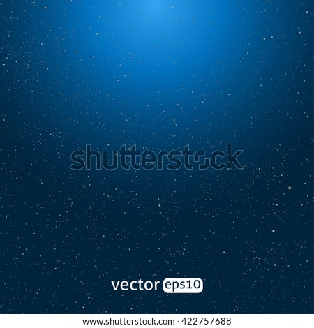 Universe filled with stars. Blue starry sky vector background - stock vector